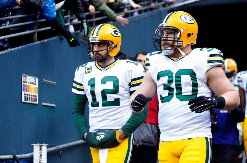 Green Bay Packers, Aaron Rodgers, John Kuhn (Photo by Christian Petersen/Getty Images)