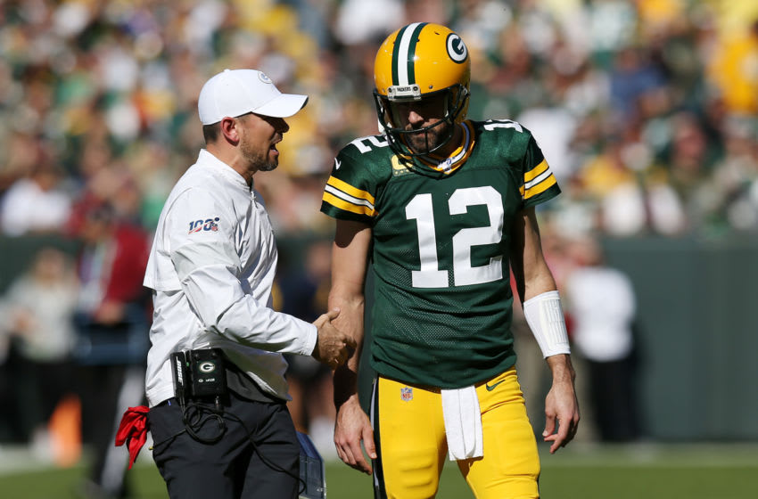 Green Bay Packers, Matt LaFleur and Aaron Rodgers (Photo by Dylan Buell/Getty Images)