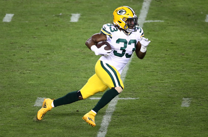 Green Bay Packers, Aaron Jones (Photo by Ezra Shaw/Getty Images)