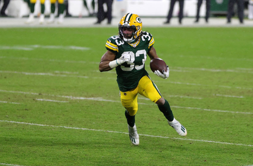 Green Bay Packers, Aaron Jones (Photo by Stacy Revere/Getty Images)