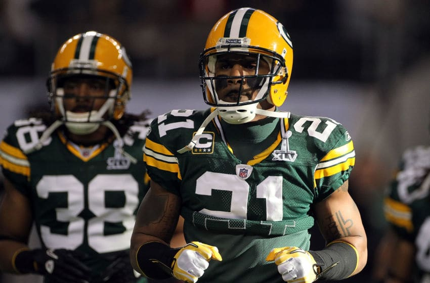 Charles Woodson, Tramon Williams, Green Bay Packers. (Photo by Doug Pensinger/Getty Images)