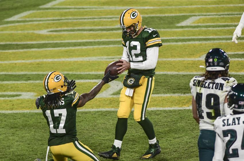 Green Bay Packers, Davante Adams, Aaron Rodgers - Credit: Benny Sieu-USA TODAY Sports