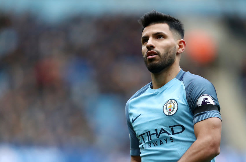 MANCHESTER, ENGLAND - DECEMBER 03: Sergio Aguero of Manchester City during the Premier League match between Manchester City and Chelsea at Etihad Stadium on December 3, 2016 in Manchester, England. (Photo by James Baylis - AMA/Getty Images)