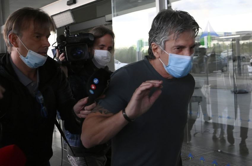 Jorge Messi, father and agent of Lionel Messi arrives at the Barcelona airport on September 02, 2020. - Lionel Messi boycotted Barcelona's first pre-season training session on Monday, as the striker upped the stakes in his battle to leave this summer. (Photo by LLUIS GENE / AFP) (Photo by LLUIS GENE/AFP via Getty Images)