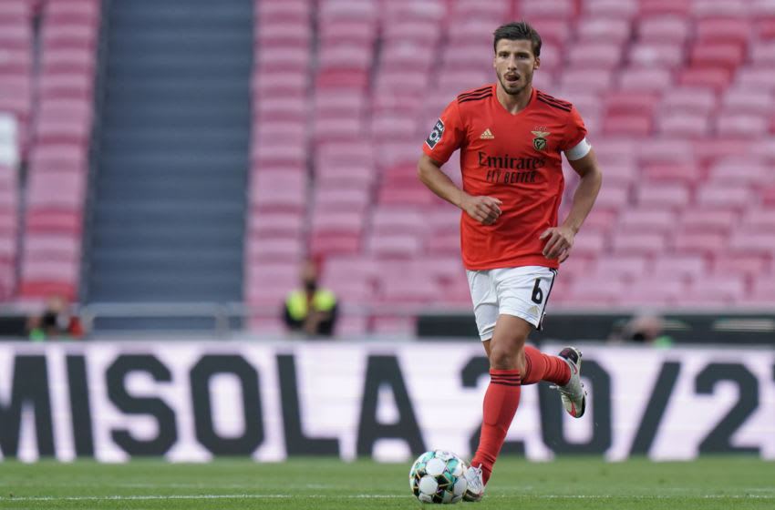 LISBON, PORTUGAL - SEPTEMBER 26: Ruben Dias of SL Benfica in action during the Liga NOS match between SL Benfica and Moreirense FC at Estadio da Luz on September 26, 2020 in Lisbon, Portugal. (Photo by Gualter Fatia/Getty Images)