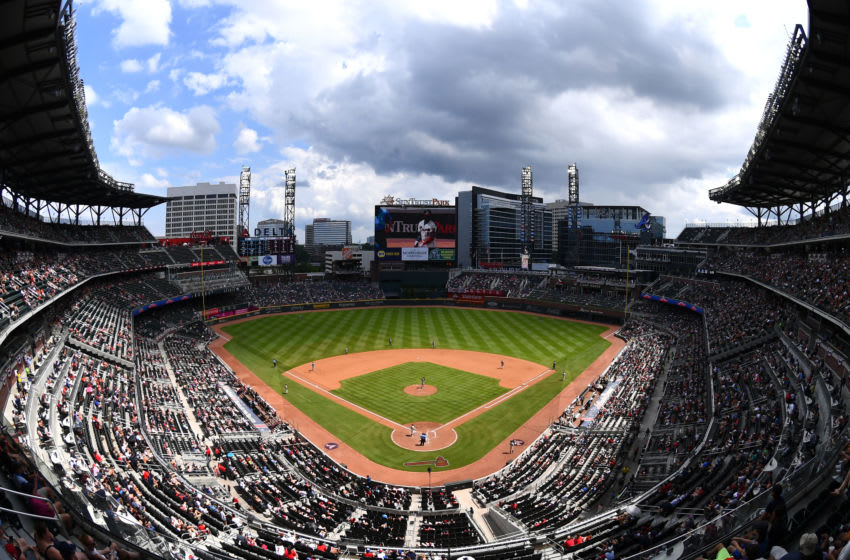 ATLANTA, GA - JULY 7: A general view of SunTrust Park during the game between the Atlanta Braves and the Miami Marlins on July 7, 2019 in Atlanta, Georgia. (Photo by Scott Cunningham/Getty Images)