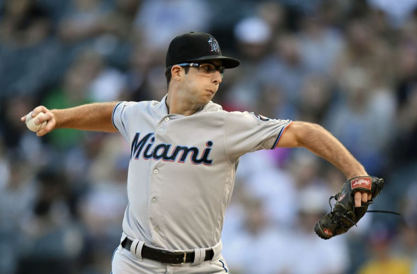 CHICAGO, ILLINOIS - JULY 24: Starting pitcher Zac Gallen #52 of the Miami Marlins delivers the ball in the first inning against the Chicago White Sox at Guaranteed Rate Field on July 24, 2019 in Chicago, Illinois. (Photo by Quinn Harris/Getty Images)
