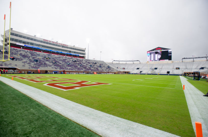 OXFORD, MS - OCTOBER 20: General view of Vaught-Hemingway Stadium prior to the matchup between the Mississippi Rebels and the Auburn Tigers on October 20, 2018 in Oxford, Mississippi. (Photo by Michael Chang/Getty Images)