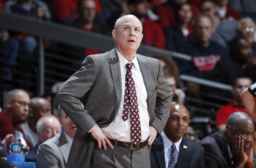 DAYTON, OH - NOVEMBER 30: Head coach Ben Howland of the Mississippi State Bulldogs looks on during the game against the Dayton Flyers at UD Arena on November 30, 2018 in Dayton, Ohio. The Bulldogs won 65-58. (Photo by Joe Robbins/Getty Images)