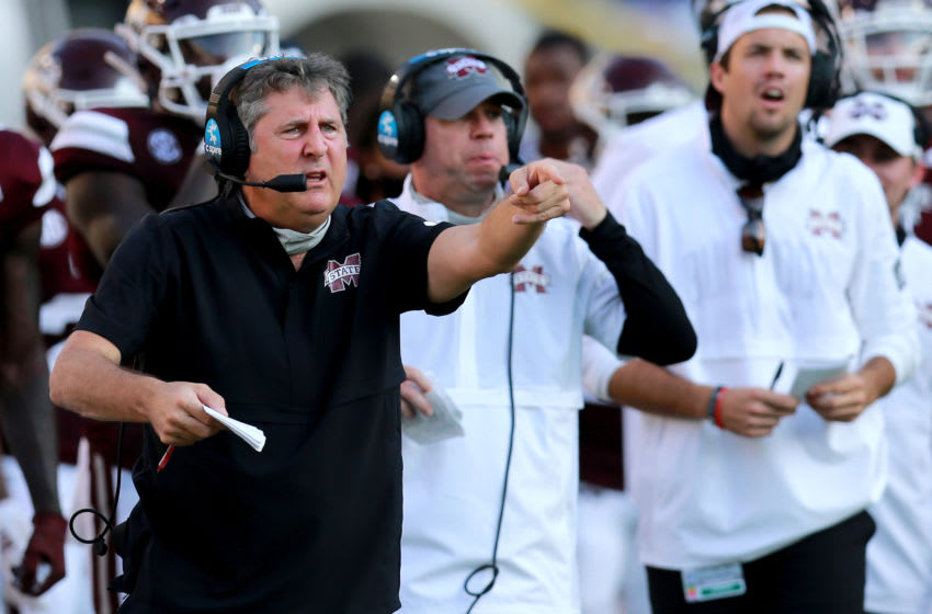 Head coach Mike Leach of the Mississippi State Bulldogs (Photo by Sean Gardner/Getty Images)