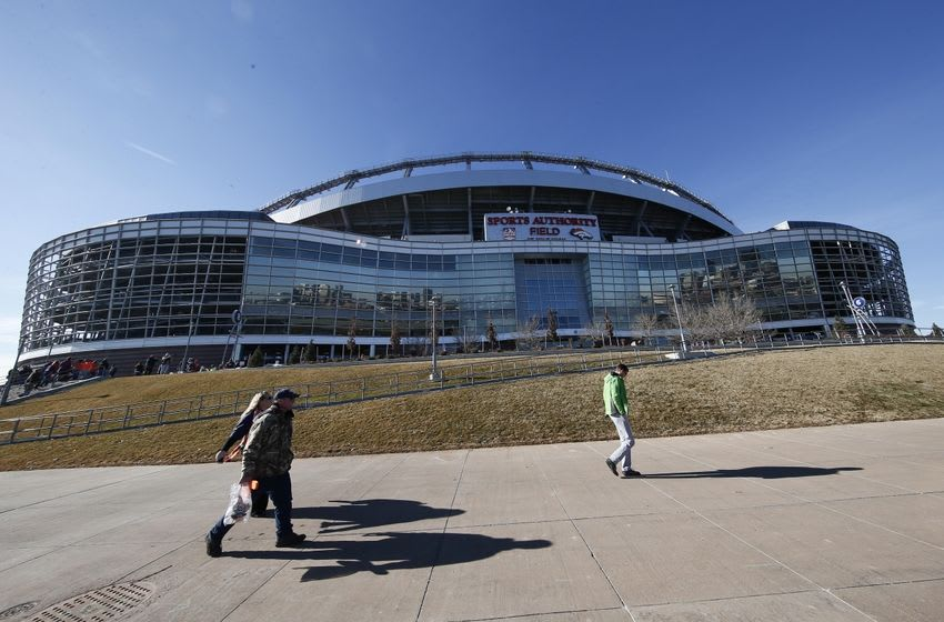 Jan 17, 2016; Denver, CO, USA; Broncos fans make their way to the stadium before the AFC Divisional round playoff game at Sports Authority Field at Mile High. Mandatory Credit: Isaiah J. Downing-USA TODAY Sports