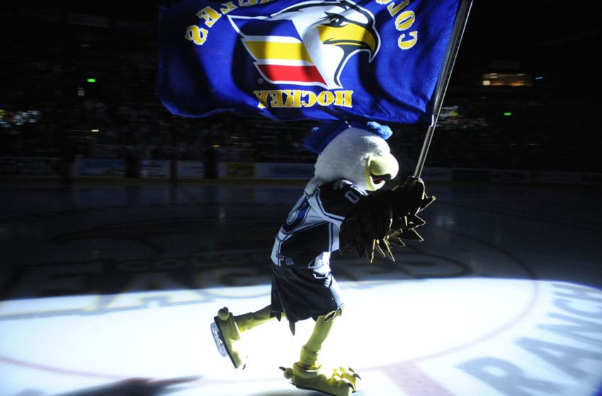 The Colorado Eagles hockey team hosted the Bossier-Shreveport Mudbugs in the first game of the President's Cup Finals in Loveland Friday night May 13, 2011. Karl Gehring/The Denver Post (Photo By Karl Gehring/The Denver Post via Getty Images)