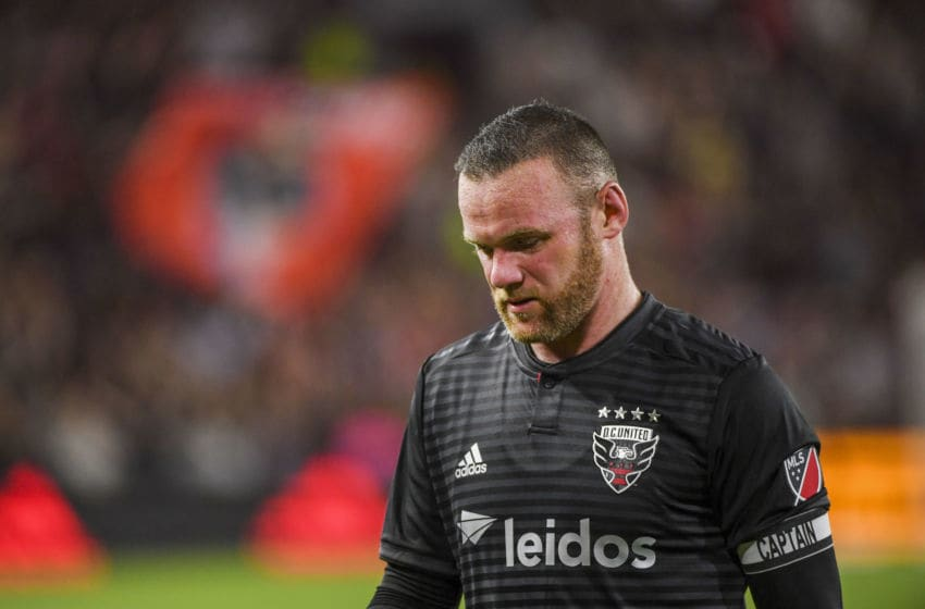 WASHINGTON, DC - MAY 29: D.C. United forward Wayne Rooney (9) during second half action against the Chicago Fire at Audi Field. (Photo by Jonathan Newton / The Washington Post via Getty Images)