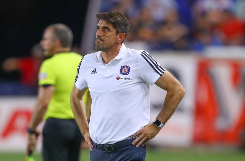 HARRISON, NJ - JUNE 28: Chicago Fire head coach Veljko Paunovic during the Major League Soccer game between the Chicago Fire and the New York Red Bulls on June 28, 2019 at Red Bull Arena in Harrison, NJ. (Photo by Rich Graessle/Icon Sportswire via Getty Images)