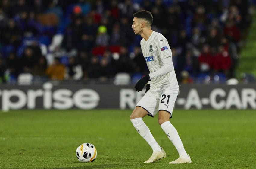Younes Namli of FC Krasnodar during UEFA Europa League between Getafe CF and FC Krasnodar at Coliseum Alfonso Perez in Madrid, Spain. (Photo by A. Ware/NurPhoto via Getty Images)