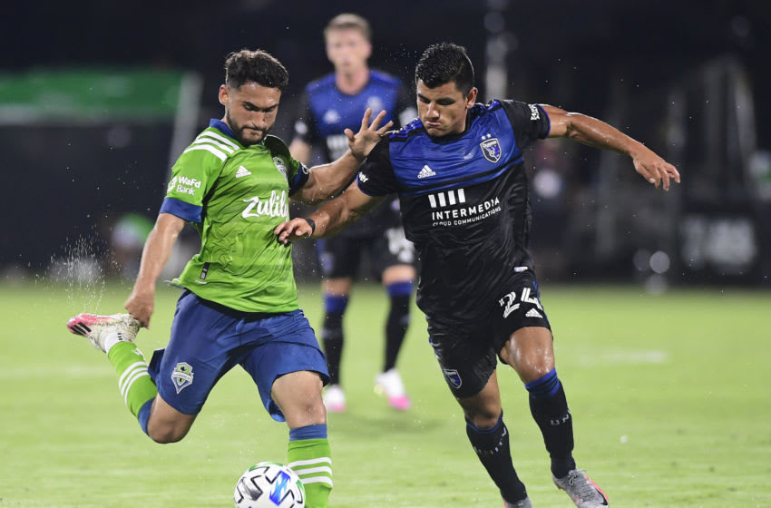 Seattle Sounders, San Jose Earthquakes (Photo by Emilee Chinn/Getty Images)