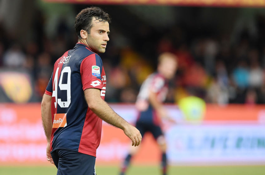 BENEVENTO, ITALY - MAY 12: Giuseppe Rossi of Genoa CFC in action during the serie A match between Benevento Calcio and Genoa CFC at Stadio Ciro Vigorito on May 12, 2018 in Benevento, Italy. (Photo by Francesco Pecoraro/Getty Images)