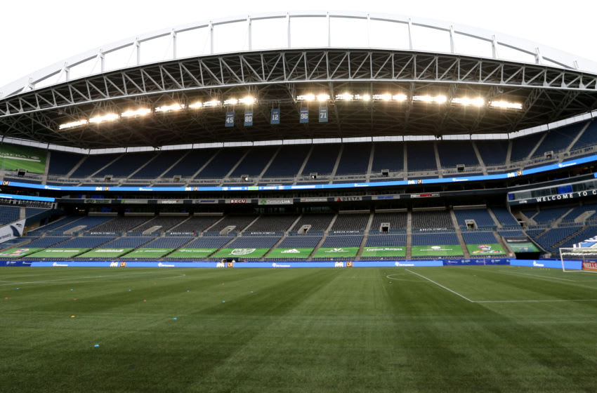 CenturyLink Field, home of the Seattle Sounders. (Photo by Abbie Parr/Getty Images)