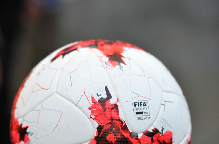 SANDY, UT - JULY 17: The game ball on display prior to the International friendly game between Manchester United and Real Salt Lake at Rio Tinto Stadium on July 17, 2017 in Sandy, Utah. (Photo by Gene Sweeney Jr/Getty Images) *** Local Caption ***