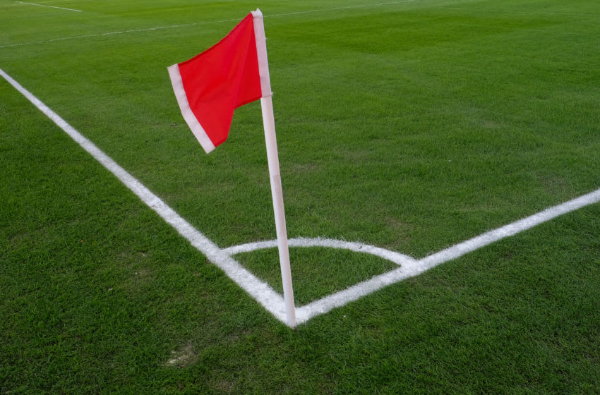 TORONTO, ON - MARCH 03: A corner marker flag blows in the wind before the MLS regular season Toronto FC home-opener played vs. the Columbus Crew SC on March 3, 2018 at BMO Field in Toronto, ON., Canada. (Photo by Jeff Chevrier/Icon Sportswire via Getty Images)