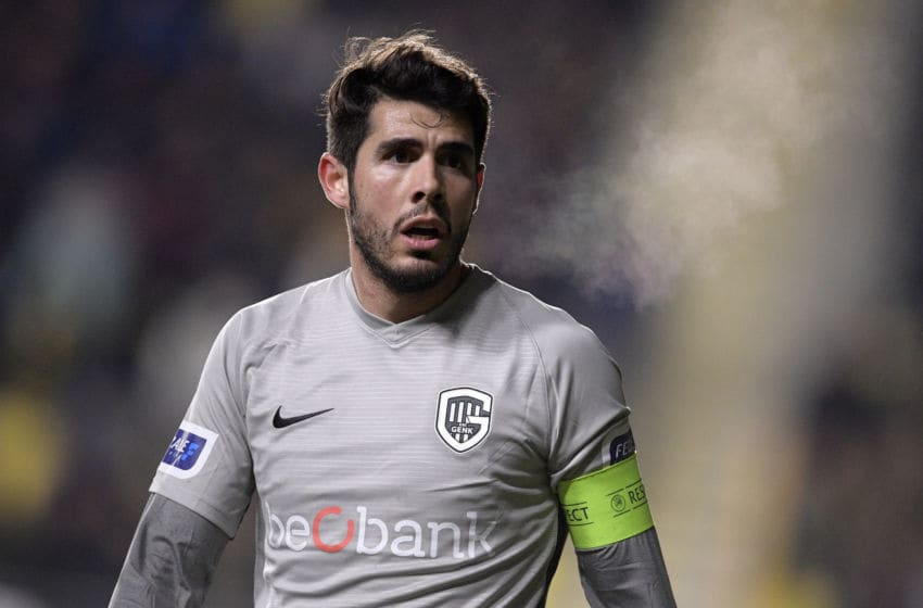 Genk's Alejandro Pozuelo pictured during the soccer match between STVV Sint-Truiden and KRC Racing Genk, Friday 18 January 2019 in Sint-Truiden, on the 22nd day of the 'Jupiler Pro League' Belgian soccer championship season 2018-2019. BELGA PHOTO YORICK JANSENS (Photo credit should read YORICK JANSENS/AFP/Getty Images)