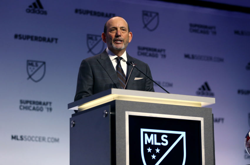 CHICAGO, IL - JANUARY 11: MLS Commissioner Don Garber during the MLS SuperDraft 2019 presented on January 11, 2019, at McCormick Place in Chicago, IL. (Photo by Andy Mead/YCJ/Icon Sportswire via Getty Images)