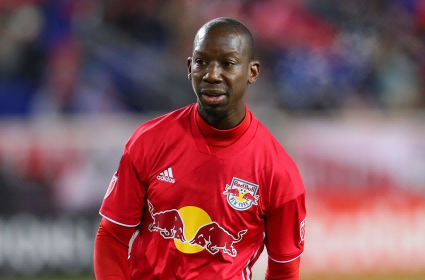 HARRISON, NJ - FEBRUARY 27: New York Red Bulls forward Bradley Wright-Phillips (99) during the first half of the CONCACAF Champions League Round of 16 Soccer game between the New York Red Bulls and Atletico Pantoja on February 27, 2019 at Red Bull Arena in Harrison, NJ. (Photo by Rich Graessle/Icon Sportswire via Getty Images)