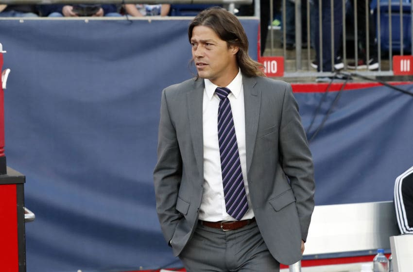 FOXBOROUGH, MA - MAY 11: San Jose Earthquakes head coach Matias Almeyda during a match between the New England Revolution and the San Jose Earthquakes on May 11, 2019, at Gillette Stadium in Foxnborough, Massachusetts. (Photo by Fred Kfoury III/Icon Sportswire via Getty Images)