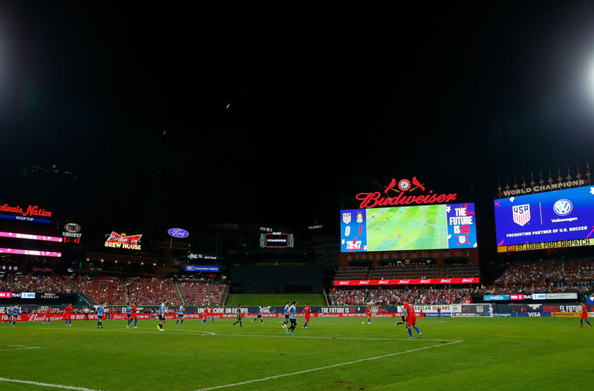 ST LOUIS, MO - SEPTEMBER 10: A general view of Busch Stadium during a match between the United States Mens National Team and the Uruguay Men's National Team on September 10, 2019 in St Louis, Missouri. (Photo by Dilip Vishwanat/Getty Images) ***Local Caption***