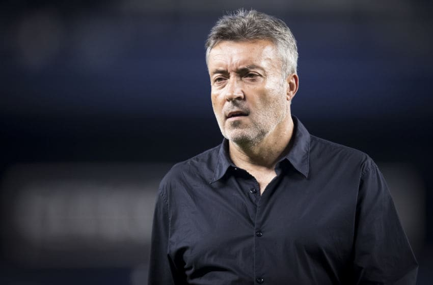 BRONX, NY - SEPTEMBER 25: Domenec Torrent Head Coach of New York City FC during the MLS match between New York City FC and Atlanta United at Yankee Stadium on September 25, 2019 in the Bronx Borough of NY, USA. NYCFC won the match with a score of 4 to 1 and clinched the top spot in the Eastern Conference. (Photo by Ira L. Black/Corbis via Getty Images)