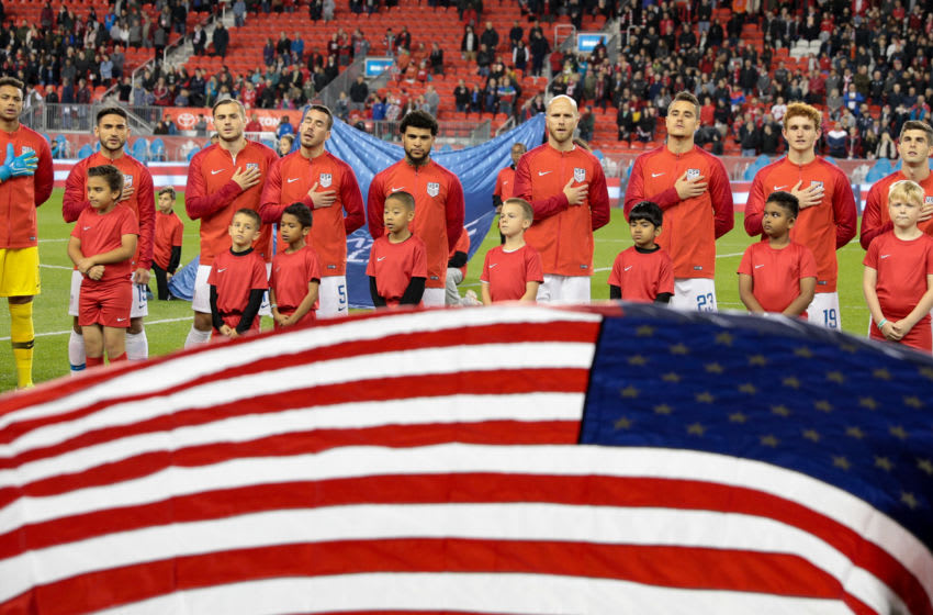 TORONTO, ON - OCTOBER 15: USMNT starting eleven during a game between Canada and USMNT at BMO Field on October 15, 2019 in Toronto, Canada. (Photo by John Dorton/ISI Photos/Getty Images)