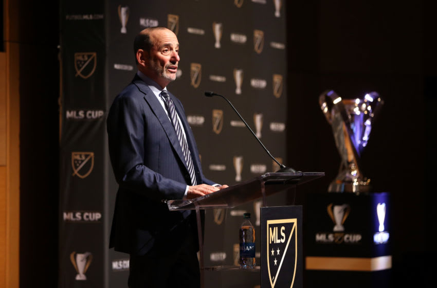 SEATTLE, WA - NOVEMBER 08: Major League Soccer Commissioner Don Garber at Grand Hyatt Seattle on November 08, 2019 in Seattle, Washington. (Photo by Andy Mead/ISI Photos/Getty Images)