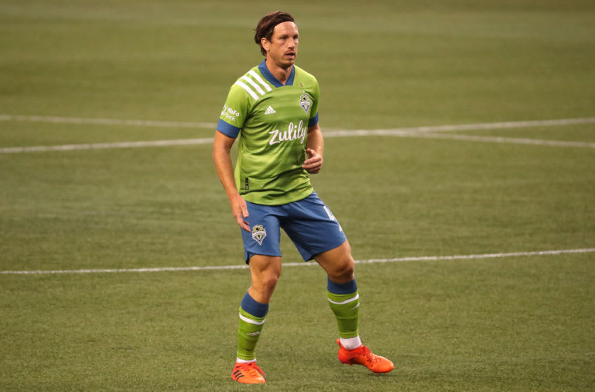 Seattle Sounders, Gustav Svensson #4 (Photo by Abbie Parr/Getty Images)