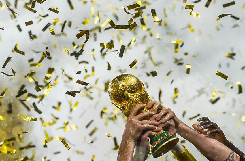 World Cup trophy - (Photo credit should read JEWEL SAMAD/AFP via Getty Images)