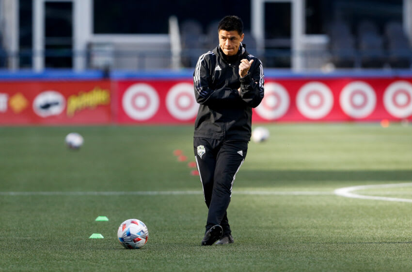 Former Seattle Sounders FC assistant coach and recently named Atlanta United head coach Gonzalo Pineda. Mandatory Credit: Jennifer Buchanan-USA TODAY Sports