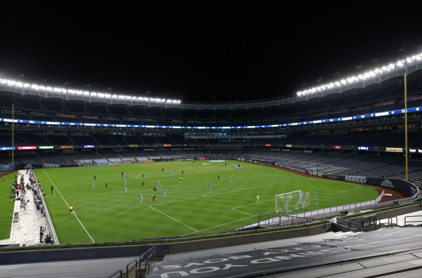 Yankee Stadium during a match between New York City FC and D.C. United. Mandatory Credit: Brad Penner-USA TODAY Sports