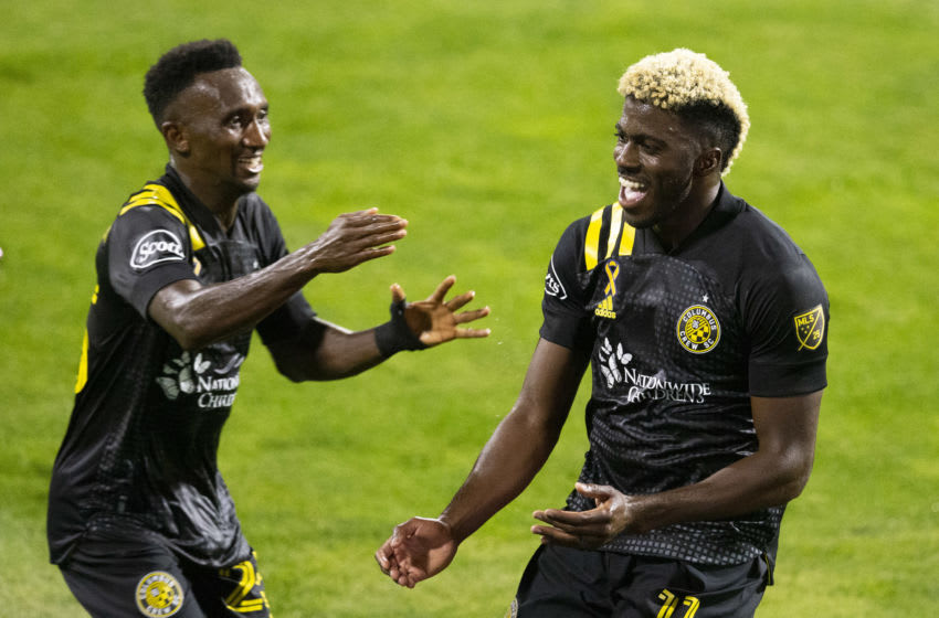 Columbus Crew, forward Gyasi Zardes (11). Mandatory Credit: Greg Bartram-USA TODAY Sports