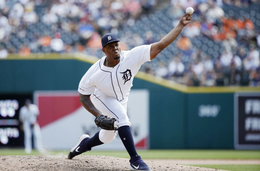 DETROIT, MI - JULY 24: Gregory Soto #65 of the Detroit Tigers pitches during a game against the Philadelphia Phillies at Comerica Park on July 24, 2019 in Detroit, Michigan. The Phillies won 4-0. (Photo by Joe Robbins/Getty Images)