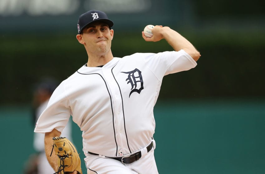 DETROIT, MI - SEPTEMBER 12: Matthew Boyd #48 of the Detroit Tigers warms up prior to the start of game one of a double header against the New York Yankees at Comerica Park on September 12, 2019 in Detroit, Michigan. (Photo by Leon Halip/Getty Images)
