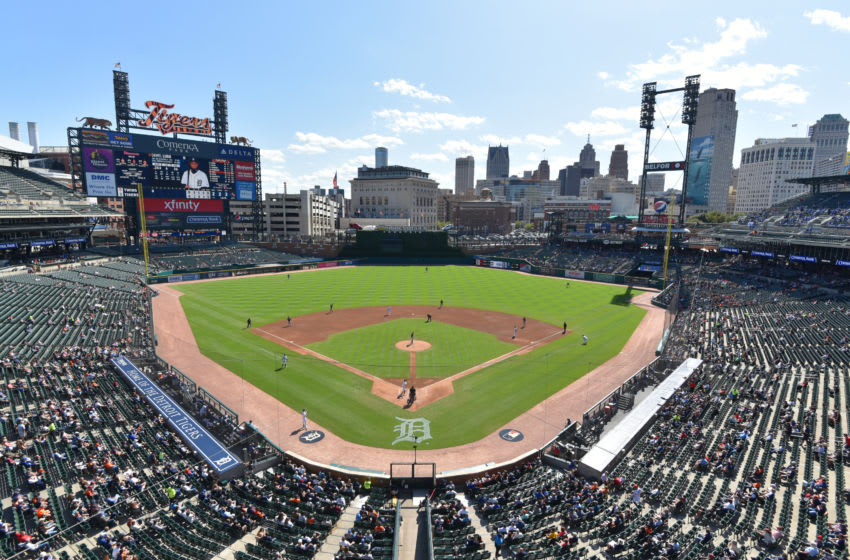 DETROIT, MI - SEPTEMBER 26: A general view of Comerica Park during the game between the Minnesota Twins and the Detroit Tigers at Comerica Park on September 26, 2019 in Detroit, Michigan. The Twins defeated the Tigers 10-4. (Photo by Mark Cunningham/MLB Photos via Getty Images)
