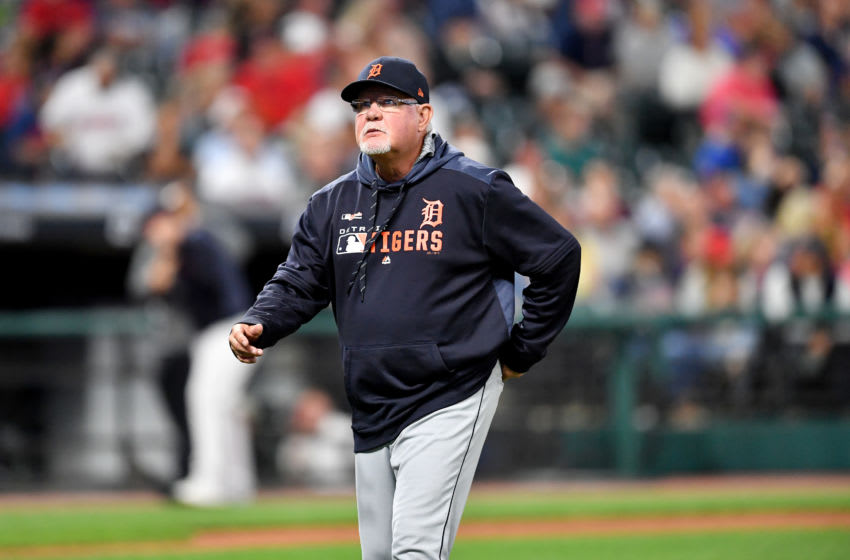 CLEVELAND, OHIO - SEPTEMBER 17: Manager Ron Gardenhire #15 of the Detroit Tigers walks off the field after a pitching change during the fourth inning against the Cleveland Indians at Progressive Field on September 17, 2019 in Cleveland, Ohio. (Photo by Jason Miller/Getty Images)