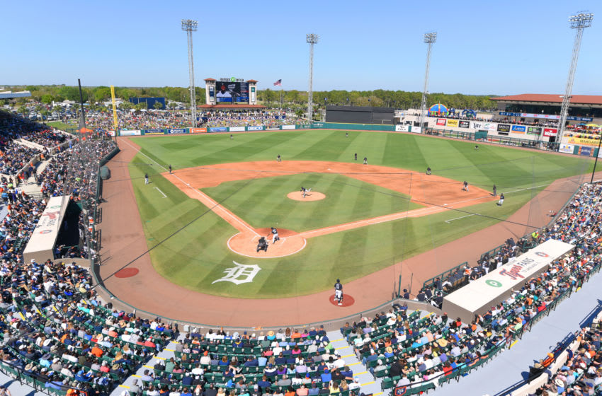 LAKELAND, FL - MARCH 01: A general interior view of Publix Field at Joker Marchant Stadium during the Spring Training game between the New York Yankees and the Detroit Tigers at Publix Field at Joker Marchant Stadium on March 1, 2020 in Lakeland, Florida. The Tigers defeated the Yankees 10-4. (Photo by Mark Cunningham/MLB Photos via Getty Images)