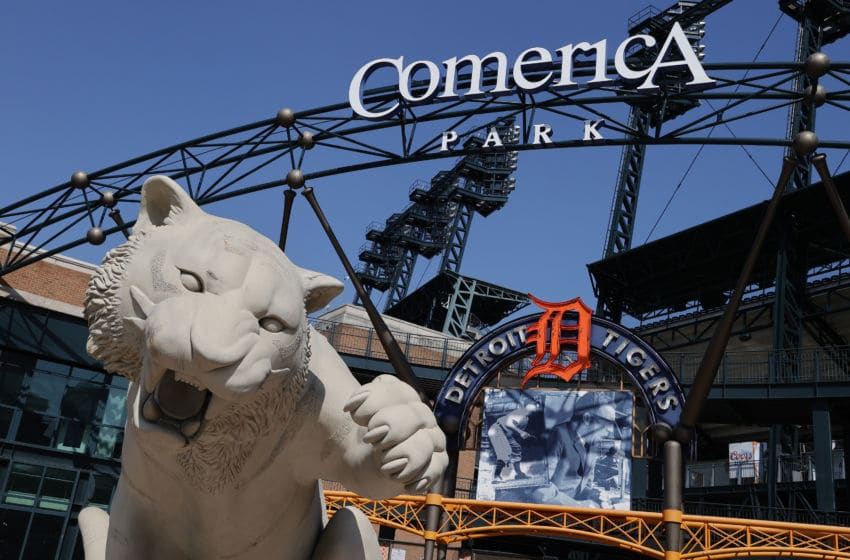 DETROIT, MICHIGAN - MARCH 25: A general view of Comerica Park where the Detroit Tigers were scheduled to open the season on March 30th against the Kansas City Royals on March 25, 2020 in Detroit, Michigan. Major League Baseball has delayed the season after the World Health Organization declared the coronavirus (COVID-19) a global pandemic on March 11th. (Photo by Gregory Shamus/Getty Images)