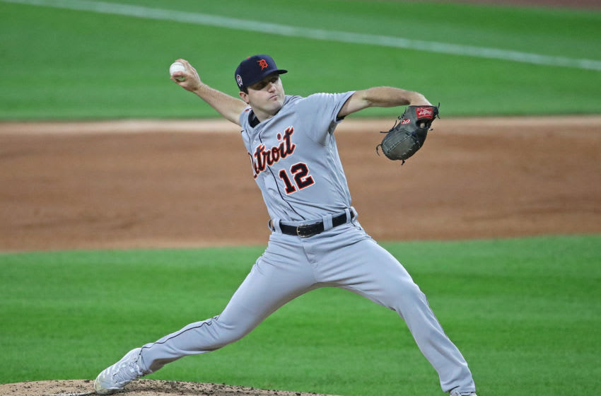 CHICAGO, ILLINOIS - SEPTEMBER 11: Starting pitcher Casey Mize #12 of the Detroit Tigers delivers the ball against the Chicago White Sox at Guaranteed Rate Field on September 11, 2020 in Chicago, Illinois. (Photo by Jonathan Daniel/Getty Images)