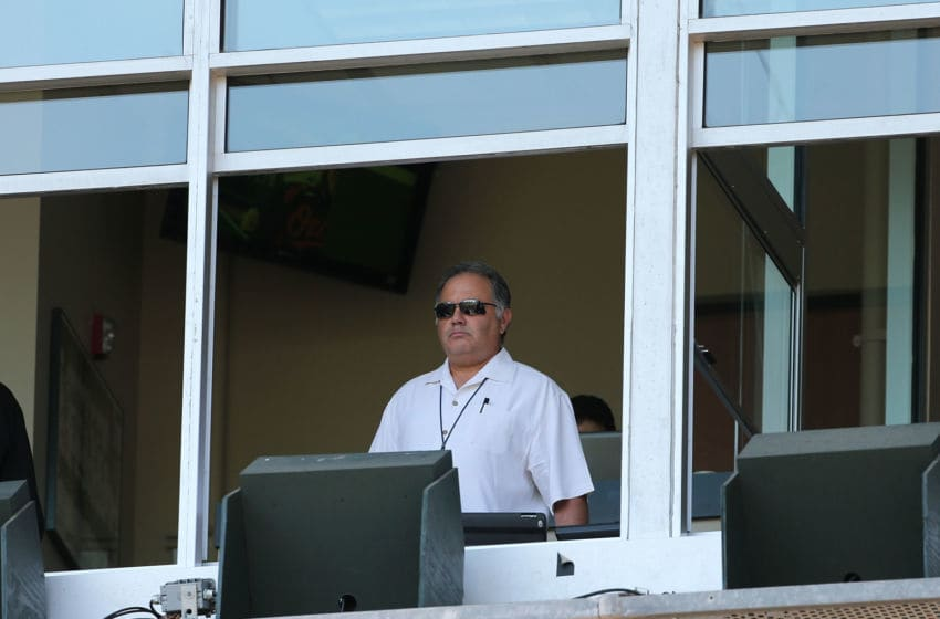 DETROIT, MI - AUGUST 19: Detroit Tigers Assistant General Manager Al Avila watches the game between the Detroit Tigers and the Baltimore Orioles at Comerica Park on August 19, 2012 in Detroit, Michigan. The Orioles defeated the Tigers 7-5. (Photo by Leon Halip/Getty Images)