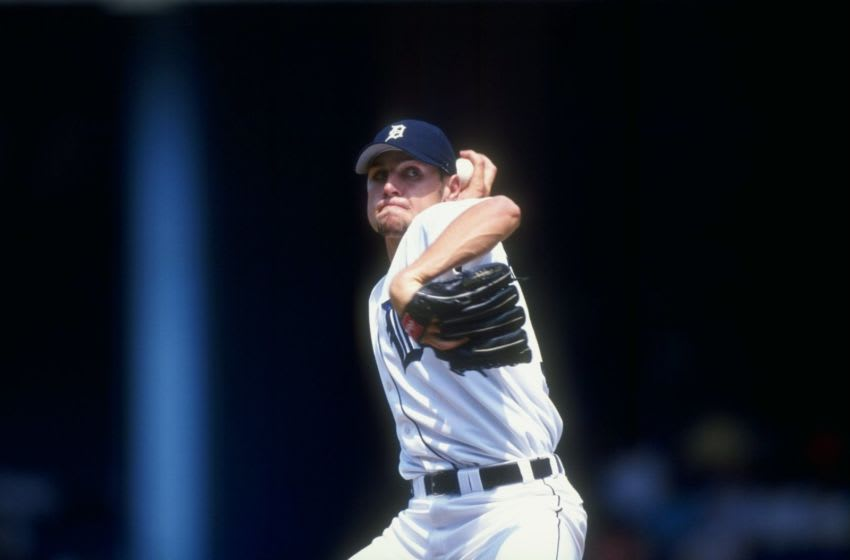 14 Jul 1998: Pitcher Matt Anderson #51 of the Detroit Tigers in action during a game against the Kansas City Royals at Tiger Stadium in Detroit, Michigan. The Tigers defeated the Royals 8-3. Mandatory Credit: Rick Stewart /Allsport
