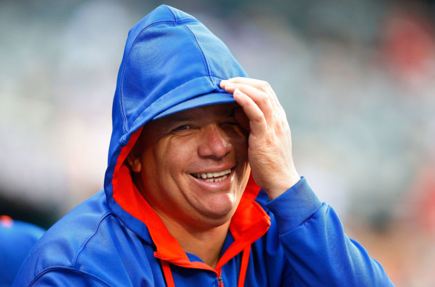 NEW YORK, NY - JUNE 28: Bartolo Colon #40 of the New York Mets looks on against the Cincinnati Reds at Citi Field on June 28, 2015 in the Flushing neighborhood of the Queens borough of New York City. The Mets defeated the Red 7-2. (Photo by Jim McIsaac/Getty Images)
