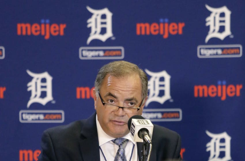 DETROIT, MI - AUGUST 4: Al Avila addresses a news conference at Comerica Park after he was promoted to executive vice president of baseball operations and general manager on August 4, 2015 in Detroit, Michigan. Avila replaces Dave Dombrowski who was the Tigers' general manager since 2002. (Photo by Duane Burleson/Getty Images)