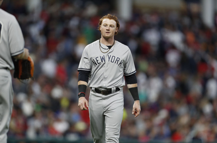 CLEVELAND, OH - AUGUST 04: Clint Frazier