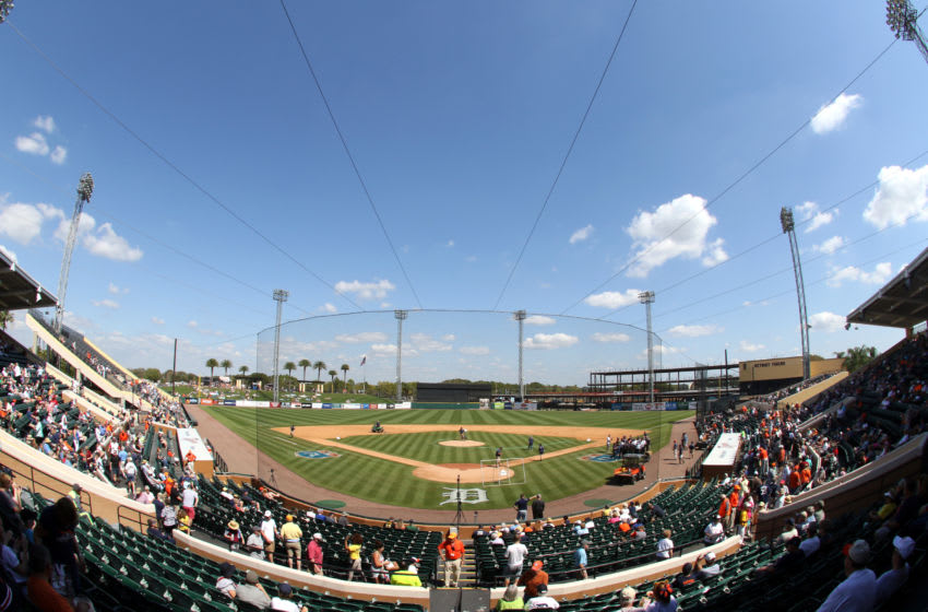 LAKELAND, FL - MARCH 01: A view from the Tiger spring training home Joker Marchant Stadium before the game between the Pittsburgh Pirates and the Detroit Tigers at Joker Marchant Stadium on March 1, 2016 in Lakeland, Florida. (Photo by Justin K. Aller/Getty Images)